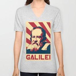 Galileo Galilei Retro Propaganda Unisex V-Neck