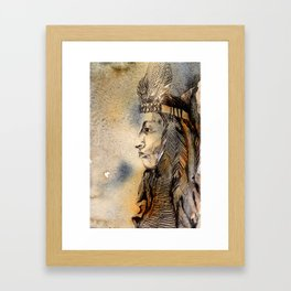 Red Indian Framed Art Print