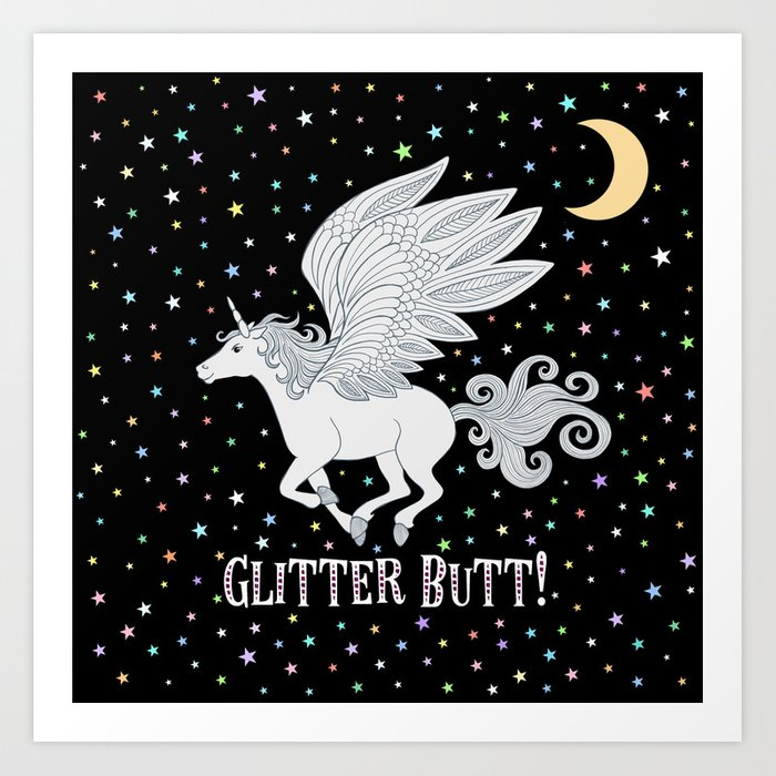 Glitter Butt! Kunstdrucke