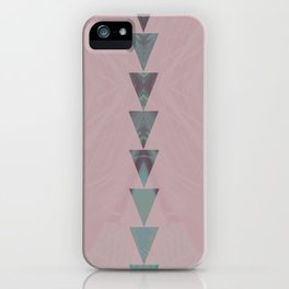 dusty arrows rose iPhone Case
