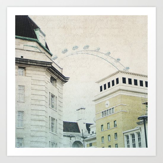 Letters From The London Eye Art Print