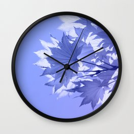 Purple Bough Wall Clock