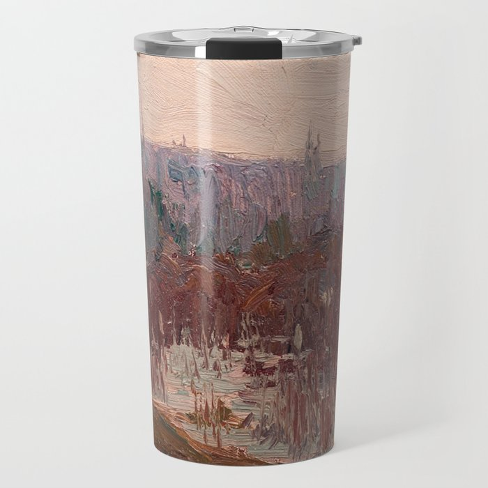 Tom Thomson - Cat-Tails, Canoe Lake - Canada, Canadian Oil Painting - Group of Seven Travel Mug
