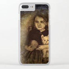 a bit sad Clear iPhone Case
