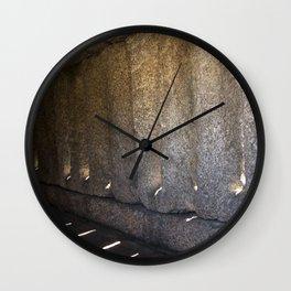 Sun through the stone Wall Clock