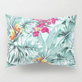 Bird of Paradise Greenery Aloha Hawaiian Prints Tropical Leaves Floral Pattern Pillow Sham