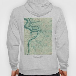 Antwerp Map Blue Vintage Hoody