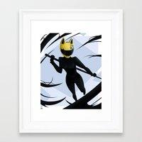 durarara Framed Art Prints featuring Celty by Gallaxi