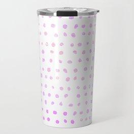 Purple Ombre Watercolor Dots Travel Mug
