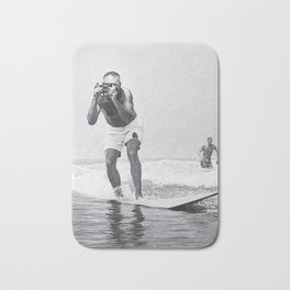 The Surfing Photographer Bath Mat