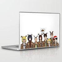 levi Laptop & iPad Skins featuring Christmas with Squad Levi 2.0 by PaigeAWArt