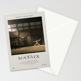 The Matrix (1999) Minimalist Poster Stationery Cards