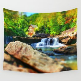 Glade Creek Grist Mill Wall Tapestry