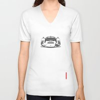 porsche V-neck T-shirts featuring Porsche 906 by Remove Before . . .
