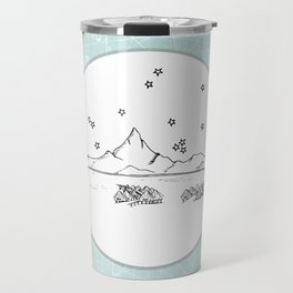 Bora Bora Island, French Polynesia Skyline Illustration Drawing Travel Mug