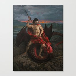 But for us fights the Valiant One Canvas Print
