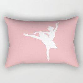 Pink and white Ballerina Rectangular Pillow