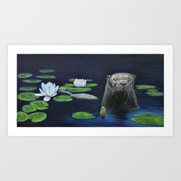 The River Otter by Teresa Thompson Art Print