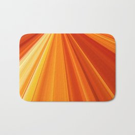 Bright Orange Sun Glare Bath Mat