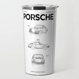Porsché 911 Vintage Race Car Poster / Printable Art Patent / Garage Decor / Present for Millionaire Travel Mug