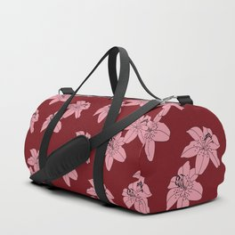 Lily The Tiger - Red Duffle Bag
