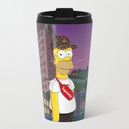simpson bape supreme Travel Mug