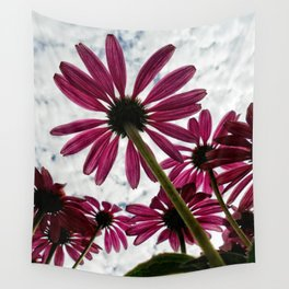 Pink Coneflower Daisy Wall Tapestry