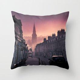Bath Somerset Pink Morning  Throw Pillow