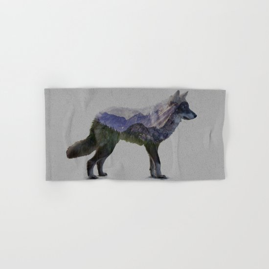 The Rocky Mountain Gray Wolf Hand & Bath Towel