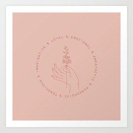 July Baby Art Print
