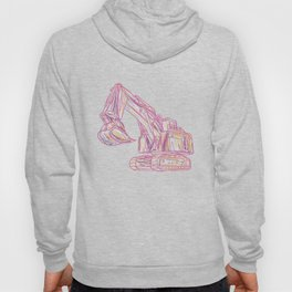 Excavator Abstract Hoody