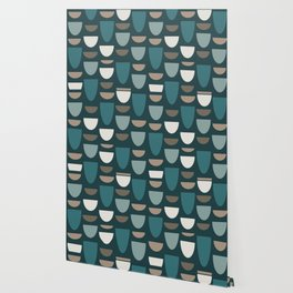 Turquoise Bowls Wallpaper
