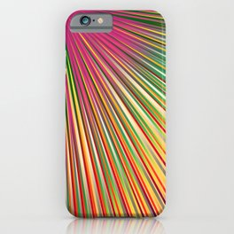 Rainbow rays, abstract print, diagonal lines, radiance iPhone Case