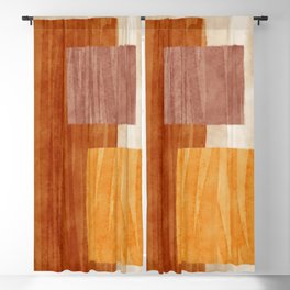 amber watercolor trio Blackout Curtain