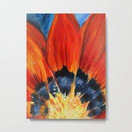 Orange Flower Painting Metal Print