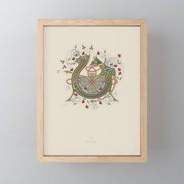 Celtic Initial V Framed Mini Art Print