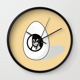 LINUX TUX EGG BRAND Wall Clock