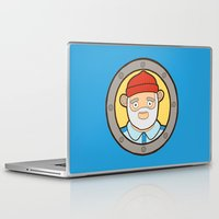 life aquatic Laptop & iPad Skins featuring The Life Aquatic by evannave