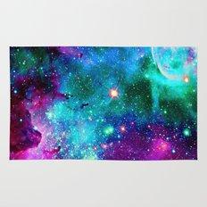 purple pink blue nebula Rug