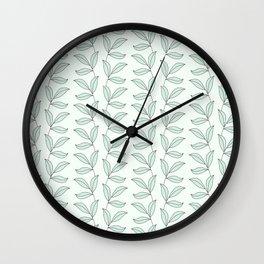 Green Botanical Vibe Wall Clock