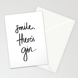 Smile - Gin Stationery Cards
