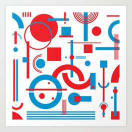 CHE blue&red Art Print