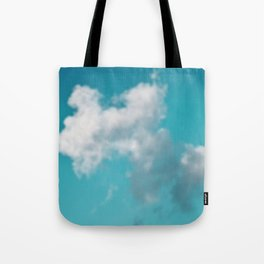 Dreaming floating candy on green Tote Bag