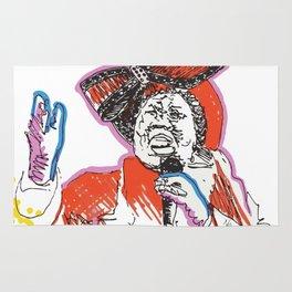 Aretha Franklin African American Singer Rug