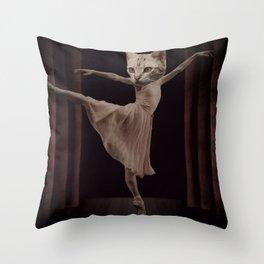 Ze Cat Bellarina Throw Pillow
