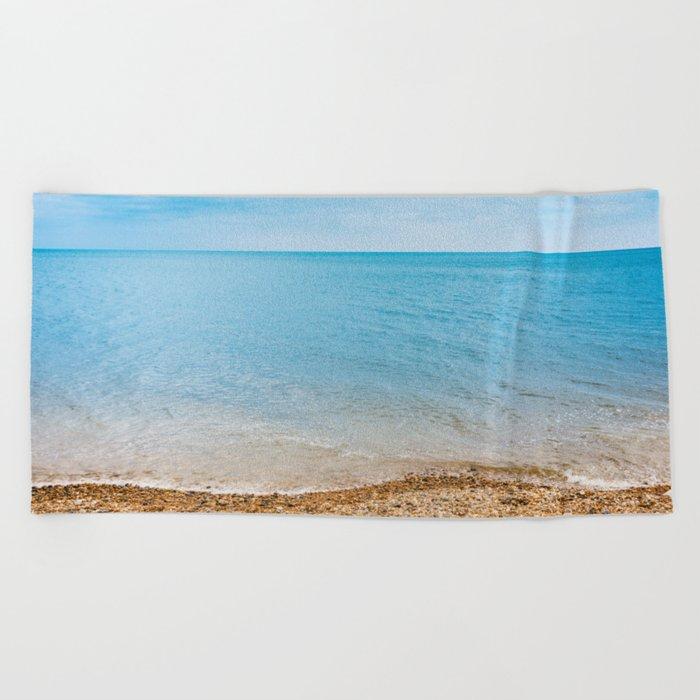 sea sand beach 4 Beach Towel