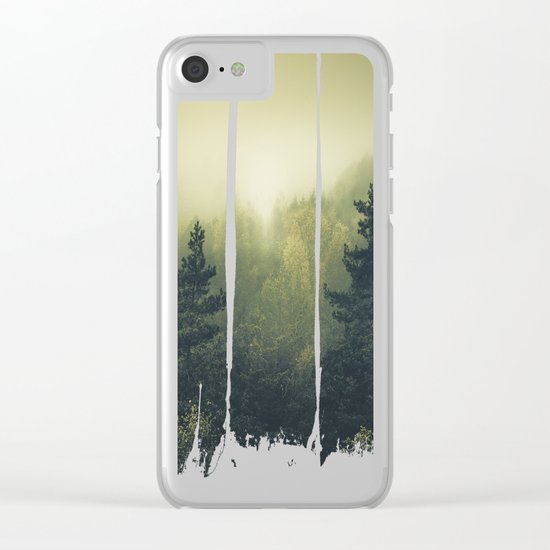 Forests never sleep Clear iPhone Case