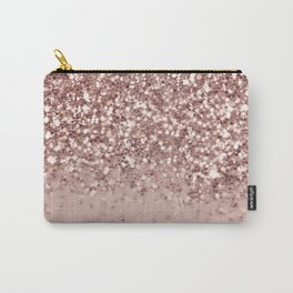 Glam Rose Gold Pink Glitter Gradient Sparkles Carry-All Pouch