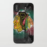 blackhawks iPhone & iPod Cases featuring chicago blackhawks hockey by abstract sports