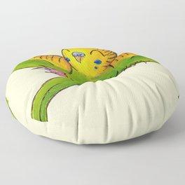 Little Green Parakeet Floor Pillow